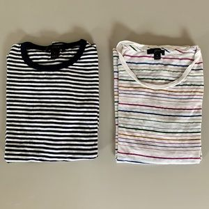J CREW tee shirts ( two) short sleeve - size small
